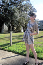 cream H&M dress - tan Old Navy cardigan - black kohls heels
