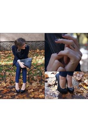 YSL shoes - H&M jeans - Zara jacket - American Apparel bag