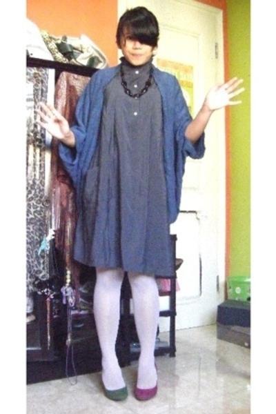 Desire jacket - unbranded dress - Sigarasi ShopHop stockings - somewhere in Bali