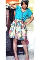 xsml t-shirt - NEAT hat - Summer Mufft skirt - Zara shoes - Hocus Pocus necklace