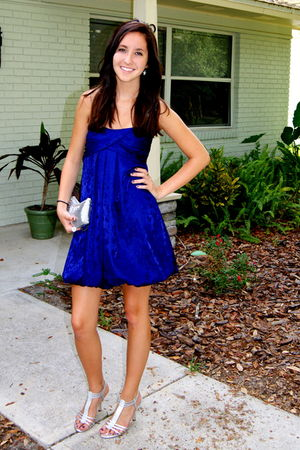 purple Forever 21 dress - silver Classified shoes - silver Ross accessories