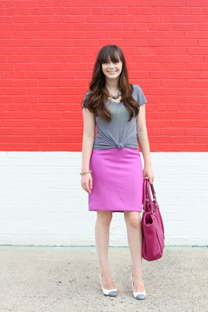 JCrew skirt - JCrew shoes - Victorias Secret shirt - Marc by Marc Jacobs bag