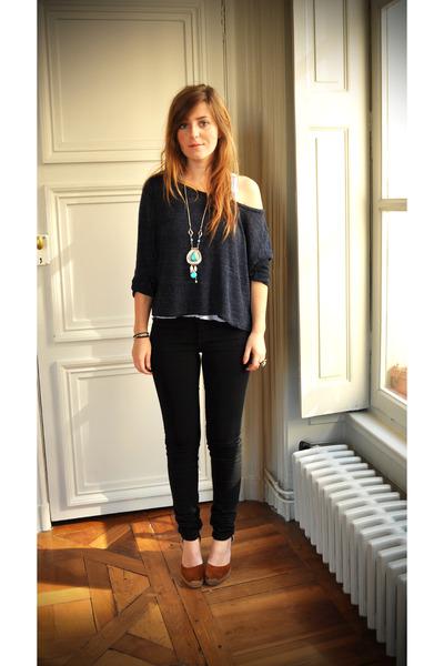 blue Brandi Melville jumper - black Cheap Monday jeans