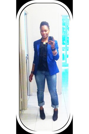 jeans - Newlook boots - new look blazer - blouse