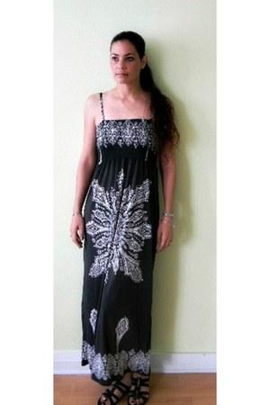 dark gray long flowy Cristinalove dress