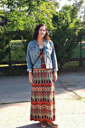 tribal Ardene dress - denim jacket Ardene jacket - espadrilles MensOOTD loafers