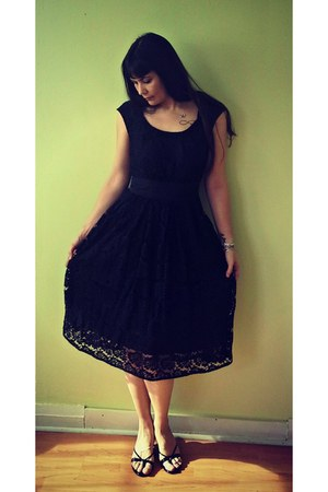 black lace eShakti dress
