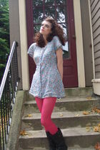 dress - Betsey Johnson stockings - Christian Roth sunglasses - boots