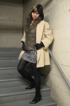 coat - BB Dakota vest - Forever 21 skirt - Zara gloves - BCBG shoes - J Crew sto