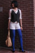 J Crew shirt - Forever 21 vest - Liz Claiiborne purse - Etsy bracelet - Express