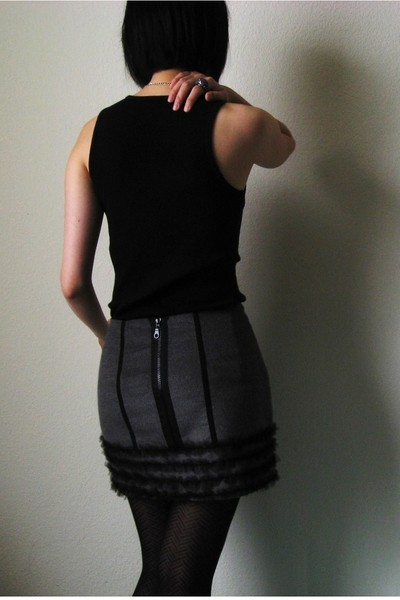 Forever 21 top - Forever 21 skirt - The Limited necklace - converse one star jac