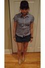 Blue-macys-shirt-blue-wet-seal-skirt-beige-topshop-shoes