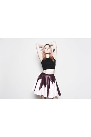 light pink faux leather French touch apparel skirt