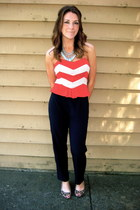 red Urban Outfitters top - brown leopard flats Target shoes