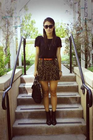 Prada bag - Diane Von Furstenberg skirt - Theory blouse