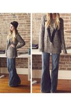 H&M sweater - vintage jeans - turban headband Frolic accessories