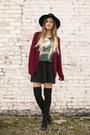 Black-ankle-gojane-boots-black-forever21-hat