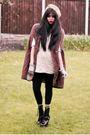 Black-ebay-boots-beige-vintage-dress-brown-vintage-coat-black-vinatge-glov