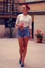 Ivory-zara-sweater-light-blue-diy-shorts-sky-blue-zara-heels
