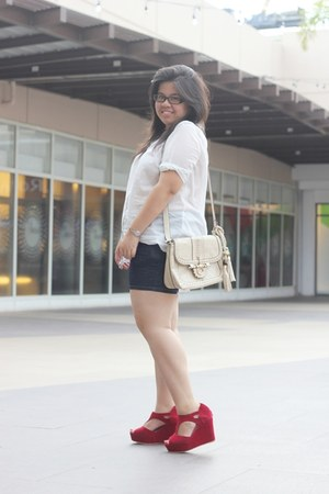OASAP wedges - Sultang bag - H&M top
