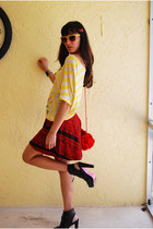 black Alice and Trixie shoes - yellow Urban Planet shirt - red American Apparel