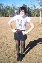 shirt - skirt - Goodwill belt - Goodwill shoes