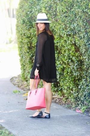 hot pink tote bag bag - black Boxy Sunnies sunglasses