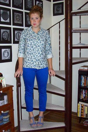 blue Target jeans - sky blue Vintage Gant blouse