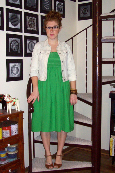 Green Vintage Handmade Dresses Off White Gap Kids DIY Jackets