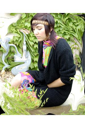 Nubby Black Sweater