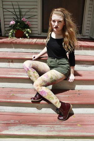 maroon Shoedazzle boots - black merona shirt