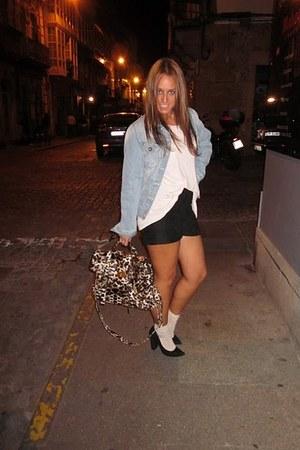 BLANCO bag - Zara shorts - Zara shoes - BLANCO jacket - H&M t-shirt
