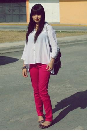 Zara pants - c&a bag - LOB flats - vintage blouse