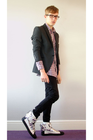 Raf Simons shoes - Topman jeans - Uniqlo shirt - Topman jacket - lanvin glasses