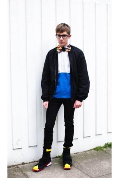 lanvin glasses - DIYHome Made tie - Miu Miu jacket - Raf Simons shirt - Topman j