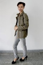 olive green military Ksubi jacket - silver Number 61 jeans