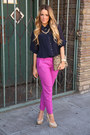 Jcrew-pants-zara-bag-steve-madden-heels-michael-kors-necklace