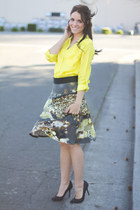 Karen Kane skirt - Tobi shirt - Zara bag - Zara pumps