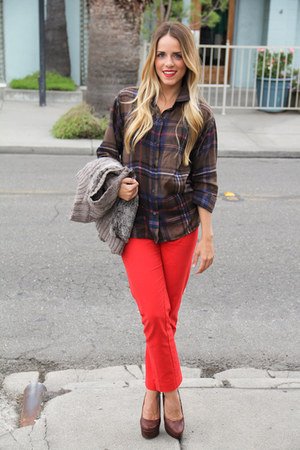 Anthropologie pants - Jessica Simpson heels - Queens Wardrobe blouse
