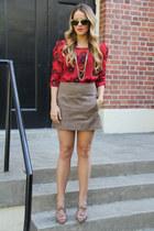 Urban Outfitters top - Zara skirt - Miu Miu heels