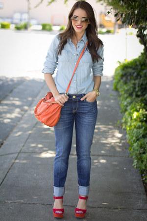 kate spade bag - Zara jeans