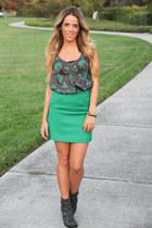 Zara skirt - Khols boots - Forever 21 top