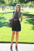 Aritzia dress - H&M belt - Jessica Simpson heels