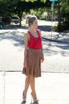 nicole miller skirt - Steve Madden heels - Forever 21 top - Michael Kors watch