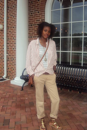 Burberry blouse - Gap pants - Forever 21 shoes - Dockers belt - boho internation