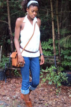 Gap shirt - Paper Denim & Cloth jeans - Vaneli boots - HoBo International purse