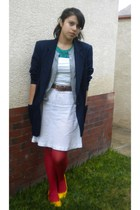 blazer - Delias t-shirt - BP sweater - Charlotte Russe dress - DKNY tights - Ame