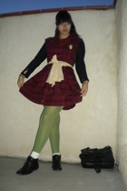 red Target GO International dress - green Nordstrom tights - white socks - black