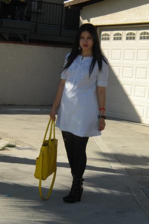 dress - tights - boots - accessories