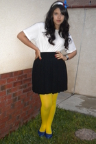 shirt - Express skirt - DKNY tights - shoes